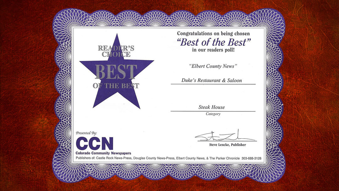 Best of the Best Certificate Award on Leather Background