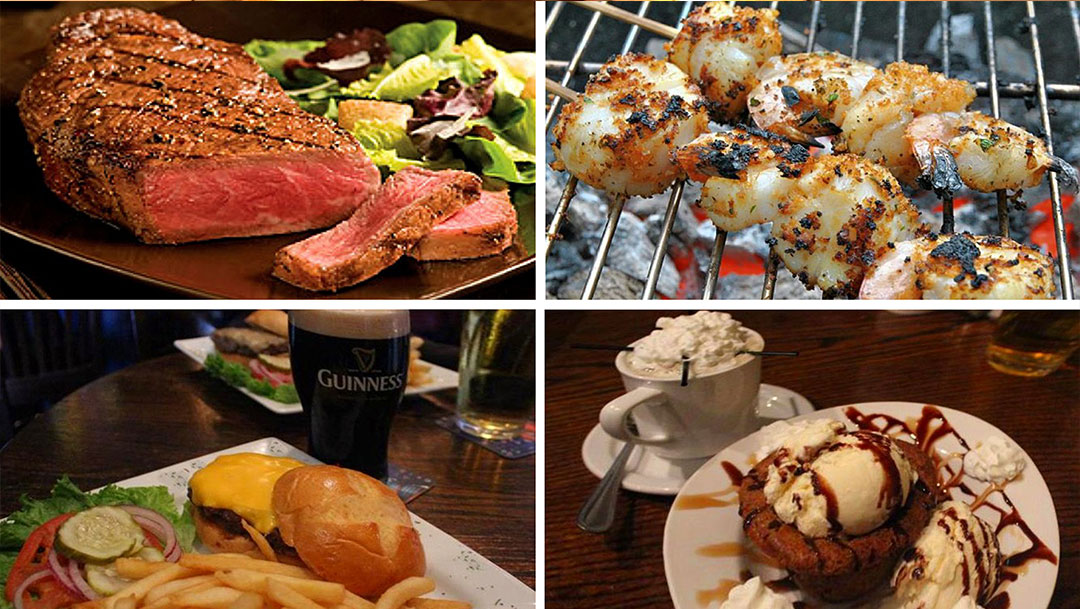 Dukes Steakhouse Dining Room Food and Beverage Offerings