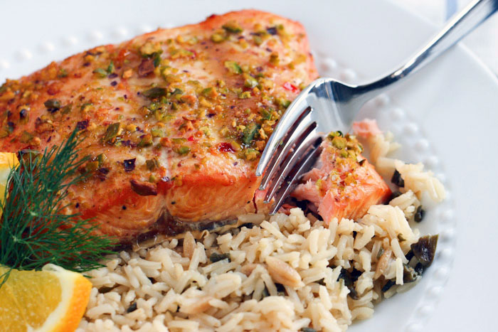 Salmon Steaks with Rice -9