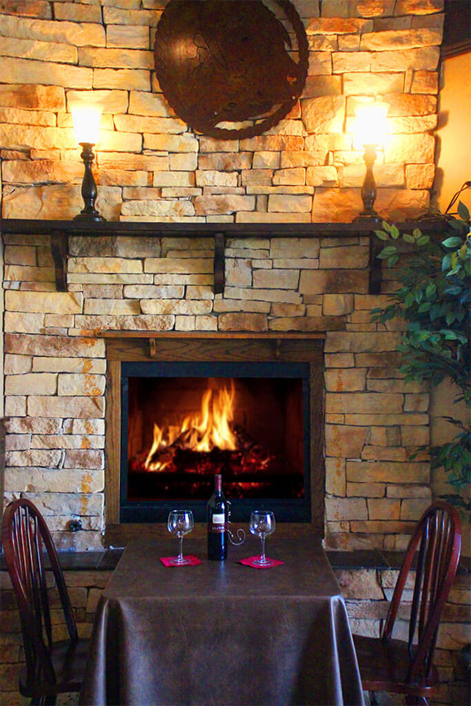 Table for Two at the Fireplace - Duke's Steakhouse Contact Page